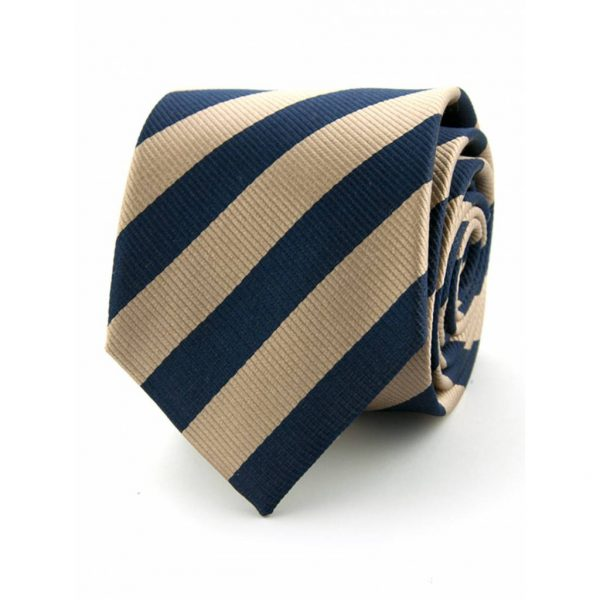 100-zijde-stropdas-kahki-marineblauw