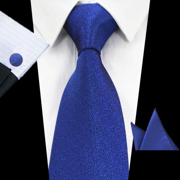 RBOCOTT-stropdas-pochet-manchetknopen-luxe-blauw