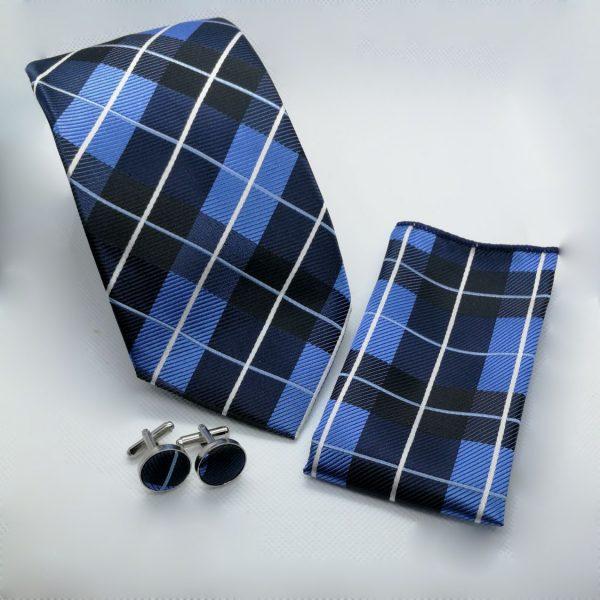 blauw-geruit-stropdas-pochet-manchetknopen