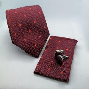 bordeaux-rode-stropdas-pochet