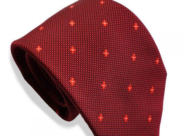 bordeax-rood-patroon-stropdas