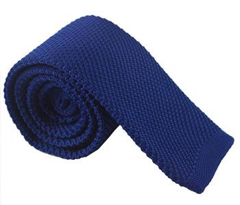 gebreide-stropdas-blauw-effen