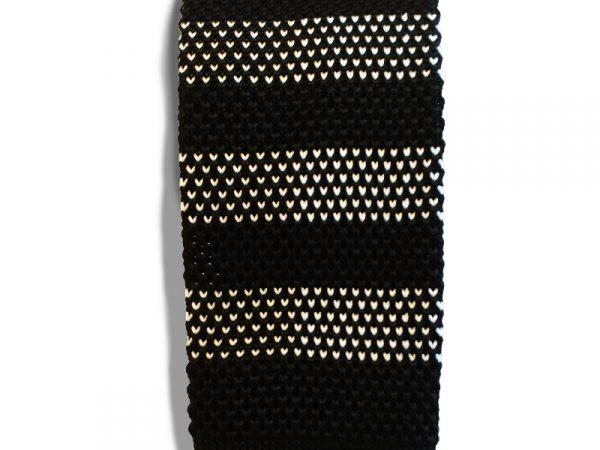 gebreide-stropdas-gestreept