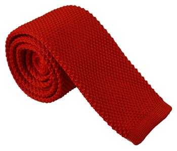 gebreide-stropdas-rood-effen
