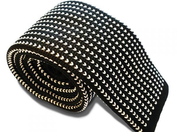 gebreide-zwart-wit-stropdas