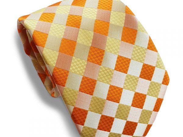 oranje-stropdas-ruit