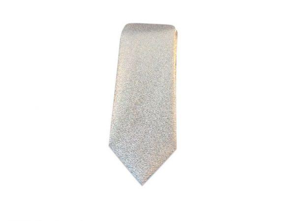 smalle-stropdas-zilver