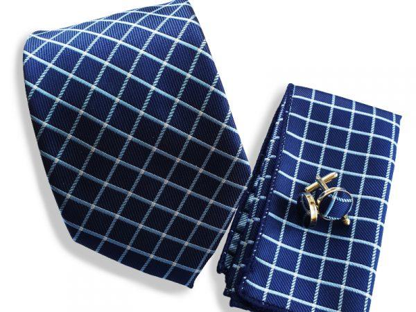 stropdas-blauw-geblokt-set