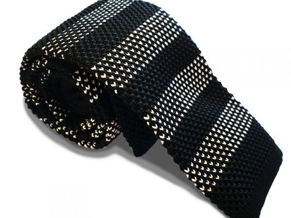 stropdas-gebreid-zwart-wit