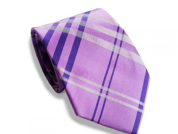 stropdas-paars-ruit