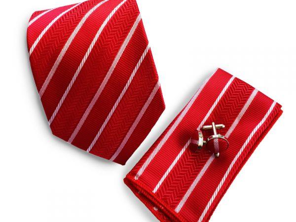 stropdas-rood-streep-set