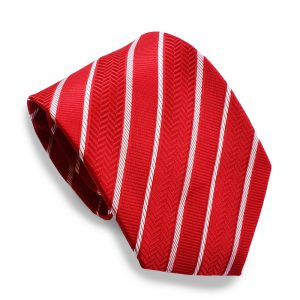stropdas-rood-witte-streep