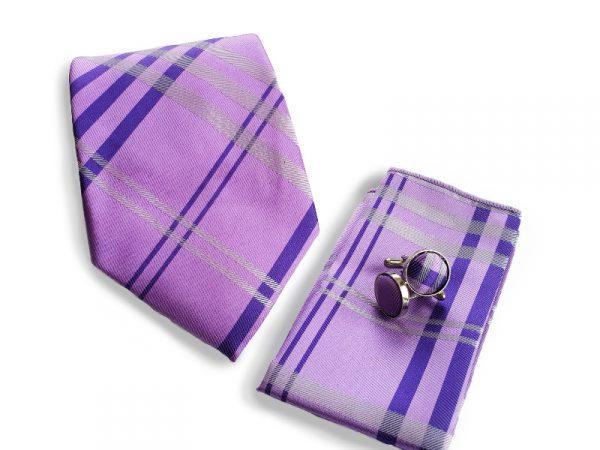 stropdas-set-paars-ruit