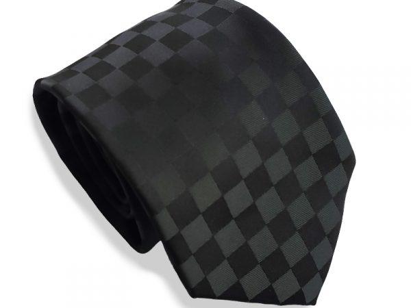 stropdas-zwart-geblokt