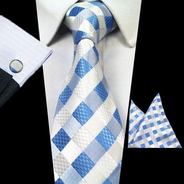 stropdassen-set-lichtblauw-ruit