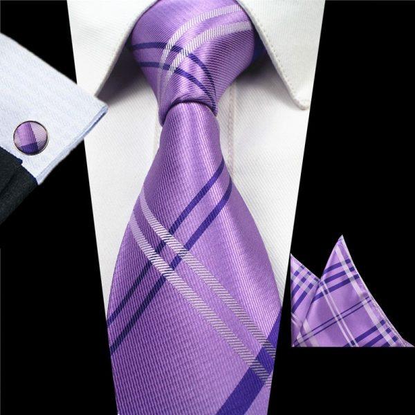 stropdassen-set-paars-ruit