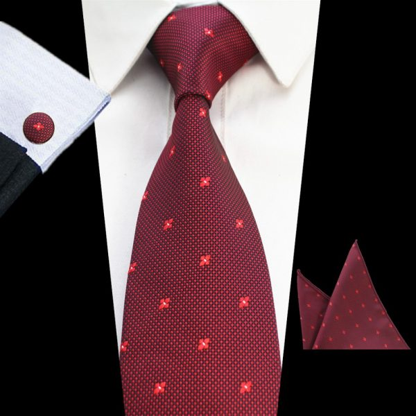 stropdassen-set-rood-patroon
