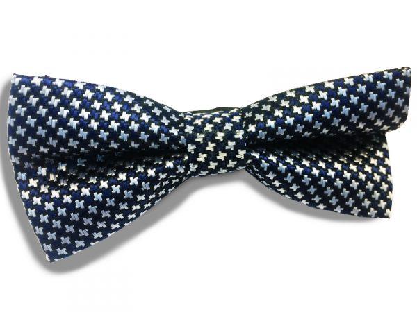 vlinderstrik-blauw-patroon