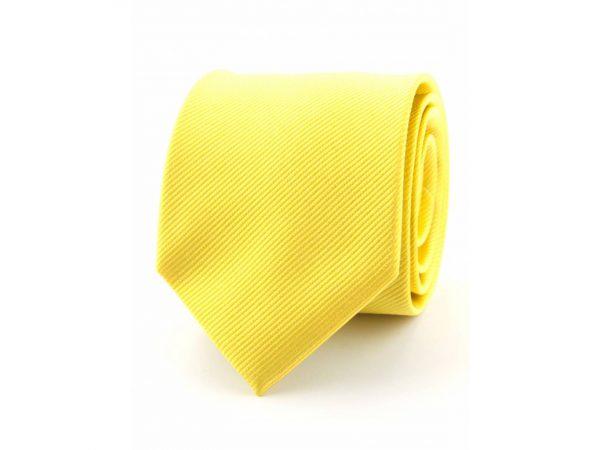 zijde-stropdas-geel