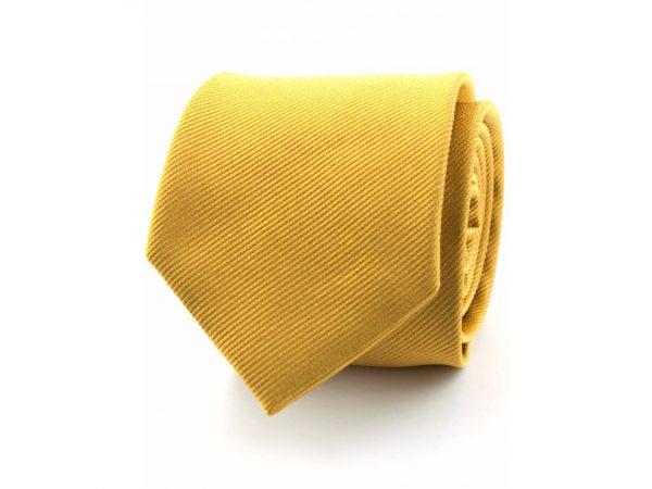 zijde-stropdas-goud-geel